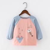 兒童罩衣 兒童罩衣秋冬季長袖寶寶圍裙防水防臟男童反穿衣女孩圍兜嬰兒護衣 解憂