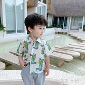 短袖襯衫男童襯衣新款夏季韓版洋氣童裝夏裝小童上衣薄款 海角七號