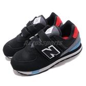 New Balance 慢跑鞋 NB 574 寬楦 黑 白 童鞋 中童鞋 運動鞋 麂皮 【ACS】 YV574JHOW