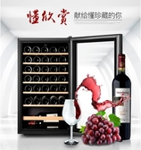 紅酒櫃Candor/凱得紅酒櫃電子恒溫家用冷藏保鮮冰吧壓縮機透明玻璃面板220vJD新年禮物