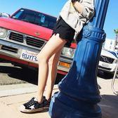 黑色牛仔短褲女2019新款夏季韓版高腰寬鬆顯瘦網紅熱褲潮ins外穿 後街五號