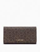 美國Calvin Klein 精品代購高雅尊貴 黑色防刮金色 Logo經典款 長夾 現貨