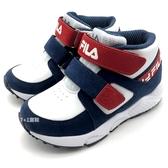 《7+1童鞋》FILA 2-J826T-122  高筒  魔鬼氈  機能運動鞋 4263  藍色
