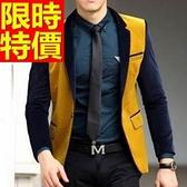 西裝外套  男韓版 西服 時髦自信-細緻金絲絨風靡時尚65b36[巴黎精品]