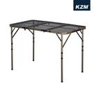 【原廠公司貨】丹大戶外【KAZMI】 KZM 四段式三折合鋼網桌含收納袋 K9T3U002
