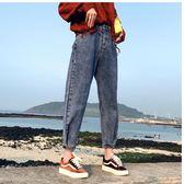 大碼寬褲 闊腿女新款韓版寬鬆九分加絨老爹褲子胯寬大腿粗的女生牛仔褲 qf14021『小美日記』