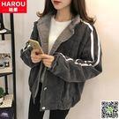 加絨加厚棒球服棉衣少女2018新款中學生冬季韓版BF蝙蝠袖棉服外套 CY潮流站