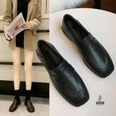 兩穿小皮鞋女百搭平底女鞋秋冬加絨英倫復古單鞋【愛物及屋】