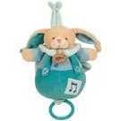 法國娃娃DOUDOU(蘋果綠)扣子長耳兔音樂鈴 - Doudou