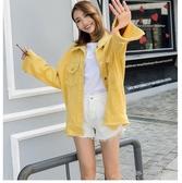 新款牛仔外套女裝糖果色學生寬鬆上衣彩色夾克 交換禮物