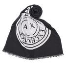 Armani Exchange經典大圓LOGO純棉薄圍巾(黑色)102851