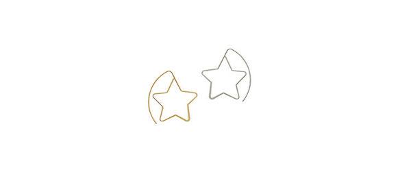 Qmigirl 簡約氣質五角星誇大星星長耳環【QG2206】