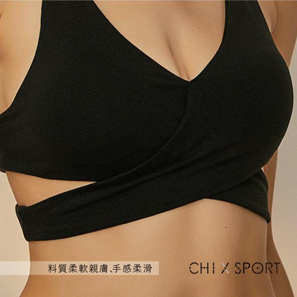 運動內衣-性感深V雙簍空削肩運動內衣(CST28066)【CHI SPORT】