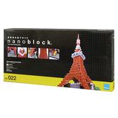 《 Nano Block迷你積木 》【 世界主題建築系列 】 NB-022 東京鐵塔 DX 豪華新版╭★ JOYBUS玩具百貨