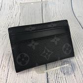BRAND楓月 LOUIS VUITTON 路易威登 LV M62170 黑原花 DOUBLE 卡夾 卡片收納