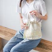 新款中國風仙女小斜背包漢服手提袋古風包女流蘇抽繩側背包袋 韓國時尚週