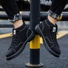2019秋季男鞋新款馬丁靴高筒帆布鞋子男韓版潮流學生板鞋增高潮鞋 蘿莉小腳丫