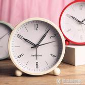 鬧鐘簡約韓版學生靜音兒童臥室床頭時尚創意夜光金屬小懶人 快意購物網