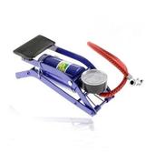 汽車高壓腳踏式打氣筒汽車便攜腳踩自行車摩托電動金屬充氣泵YYJ 易家樂