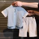 男童套裝新款兒童夏季半袖漢服男童中國風唐...