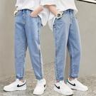 男童褲子2021新款中大童長褲兒童牛仔褲防蚊薄男孩淺色直筒寬鬆潮 一米陽光