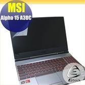 【Ezstick】MSI ALPHA 15 A3DC 靜電式筆電LCD液晶螢幕貼 (可選鏡面或霧面)