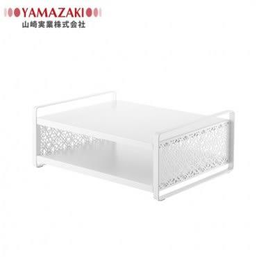 【YAMAZAKI】Kirie典雅雕花儲物層架(白)