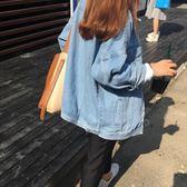 單寧牛仔外套女潮寬鬆學生bf風薄款短外套棒球服女 糖果時尚