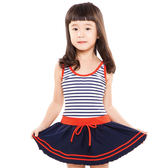 ★奧可那★ 甜甜藍白條紋水手服