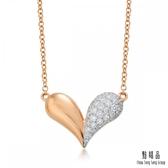 點睛品 Loving Hearts 18K玫瑰金鑽石項鍊