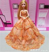 芭比娃娃女孩公主兒童玩具單個裝新娘芭比公主婚紗禮服女生洋娃娃 瑪麗蓮安igo