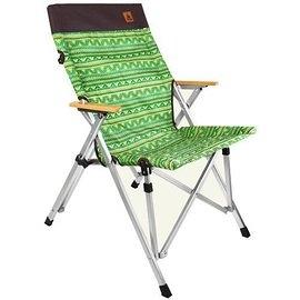 【原廠公司貨】丹大戶外【KAZMI】經典民族風櫸木手把休閒椅(綠色) K6T3C002GN
