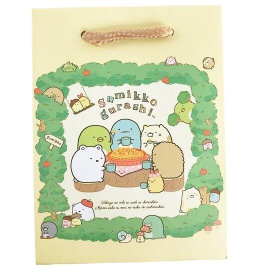 小禮堂 角落生物 迷你直式方形手提紙袋 禮物紙袋 包裝紙袋 禮品袋 (黃 蘋果樹) 4714551-88286