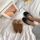 豆豆鞋春季新款韓版百搭淺口豆豆鞋女復古平底奶奶鞋仙女軟妹單鞋潮 潮人女鞋