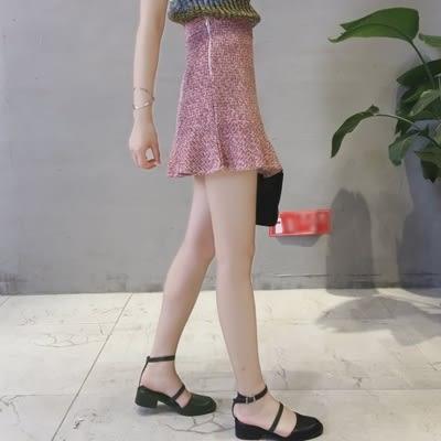 荷葉邊短裙-時尚氣質修身包臀女裙子2色73kj32【巴黎精品】
