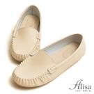 專櫃女鞋 MIT素面豆豆底莫卡辛鞋-艾莉莎Alisa【24611911】米色下單區