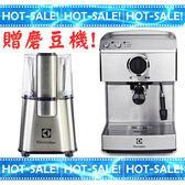 《搭贈原廠磨豆機+贈好禮》Electrolux EES200E / EES-200E 伊萊克斯 半自動咖啡機 ( EES200 強化版)