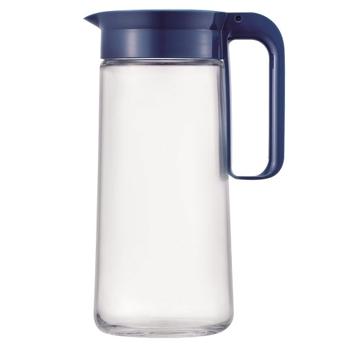 樂扣 簡約濾網玻璃冷水壺-藍(1.3L)【愛買】