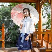古裝漢服日常古風漢元素女裝新款中國風繡花半裙 茱莉亞嚴選