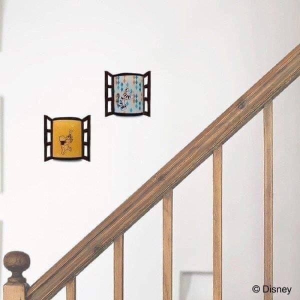 正版 日本 迪士尼明星 小熊維尼 維尼熊 維尼 小豬 感應壁燈貼 壁燈 壁貼 COCOS TK030