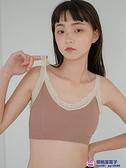 小胸A罩杯B罩bra日系女生無痕運動背心文胸防走光裹胸蕾絲邊抹胸內衣品牌【櫻桃】