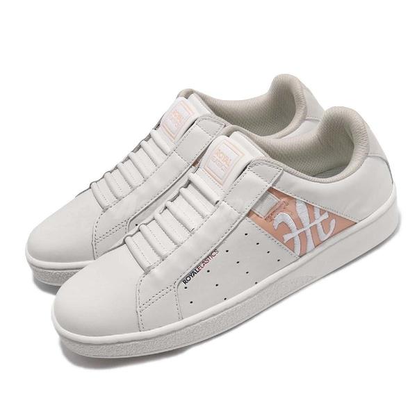 Royal Elastics 休閒鞋 Icon Genesis Chunk 白 粉紅 皮革鞋面 無鞋帶 橡膠大底 女鞋【PUMP306】 91992001