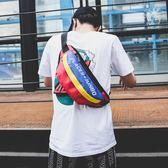 嘻哈小背包新款運動斜背包男士腰包街頭潮流胸包女單肩小背包   芊惠衣屋