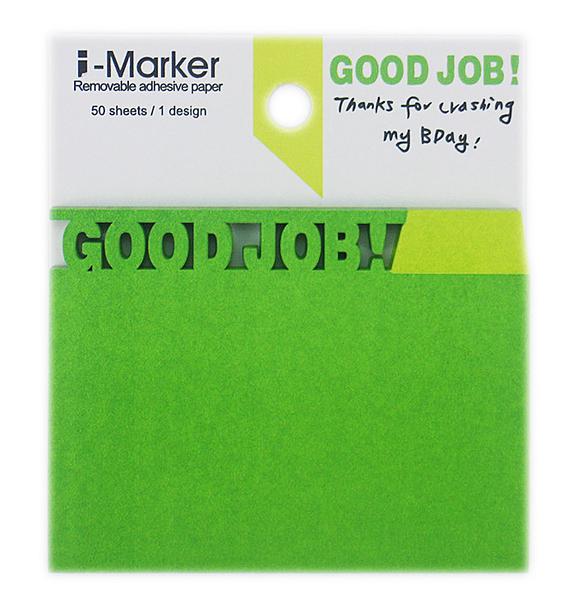 【卡漫城】 I-Marker 創意 便利貼 Good Job ㊣版 便條紙 Memo 貼 辦公 文字 N次貼  留言貼 ~