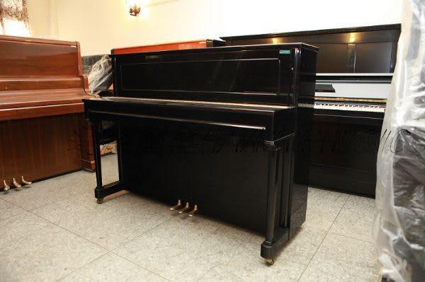 【HLIN漢麟樂器】-日本原裝kawai河合123號直立式中古二手鋼琴-原木-亮黑-豪華39