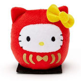 【凱蒂貓 達摩娃娃】凱蒂貓 達摩 手掌娃娃 玩偶 日本正版  該該貝比日本精品 ☆