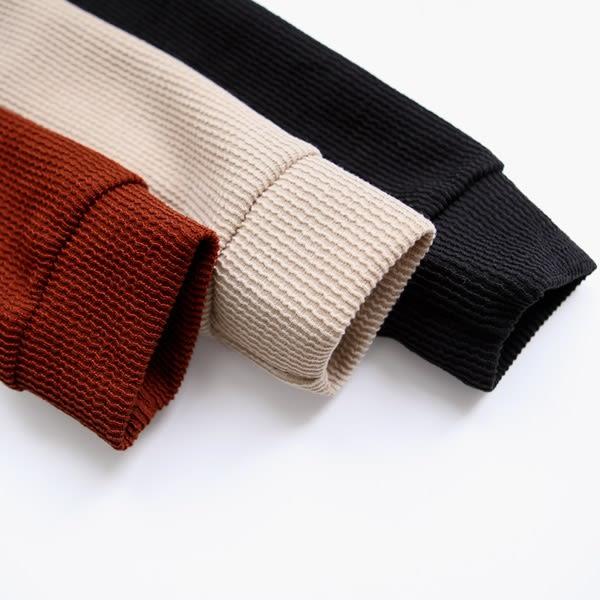 ★冬裝上市★MIUSTAR 連帽側開衩波浪坑條棉質洋裝(共3色)【NF4891EX】預購