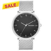 SKAGEN Hald 北歐米蘭帶石英手錶-黑x銀/40mm SKW6175