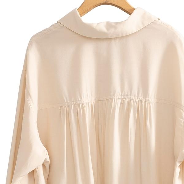 春夏出清3折[H2O]可當外套罩衫男友風多種穿法長版襯衫 - 白/卡/粉色 #0685015