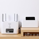 wifi無線路由器置物架落地電源電視插座插排遮擋插線板光貓收納盒 小時光生活館